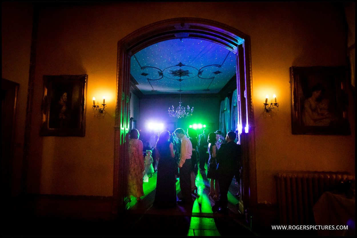 The library at Orchardleigh House wedding