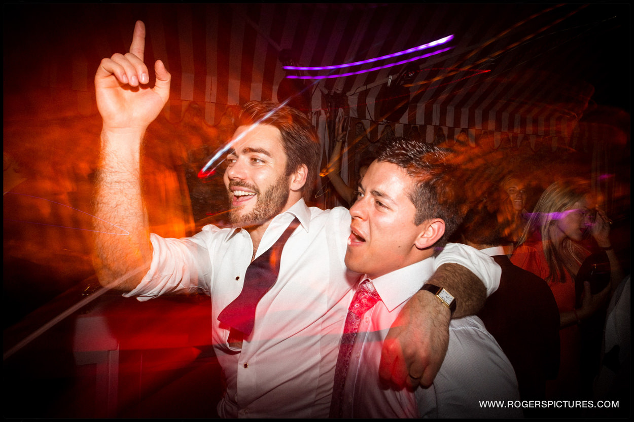 Groom on the dancefloor in Portofino Italy