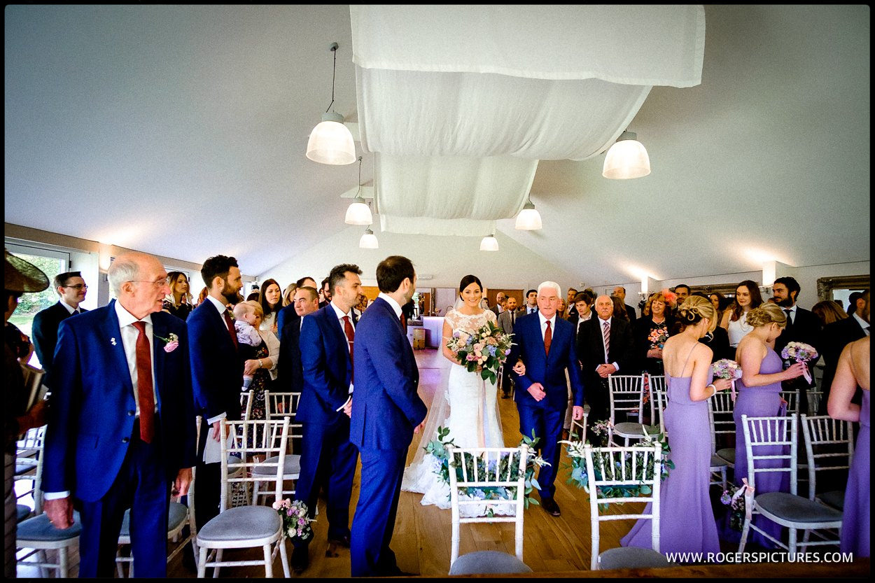 Wedding in the Garden Room at Wasing Park