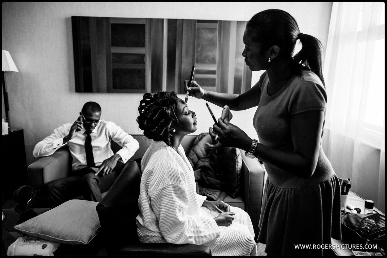 Documentary photograph of bridal prep