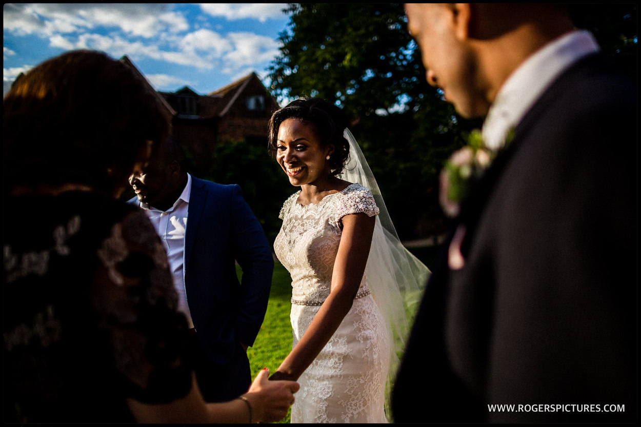 Bride arrives at Hatfield house