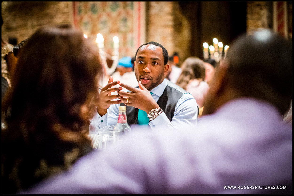 Reportage of guests at at Hatfield house