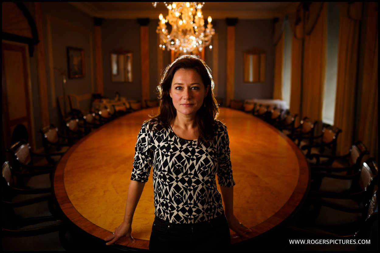 Actress Sidse Babett Knudsen from the political drama Borgen