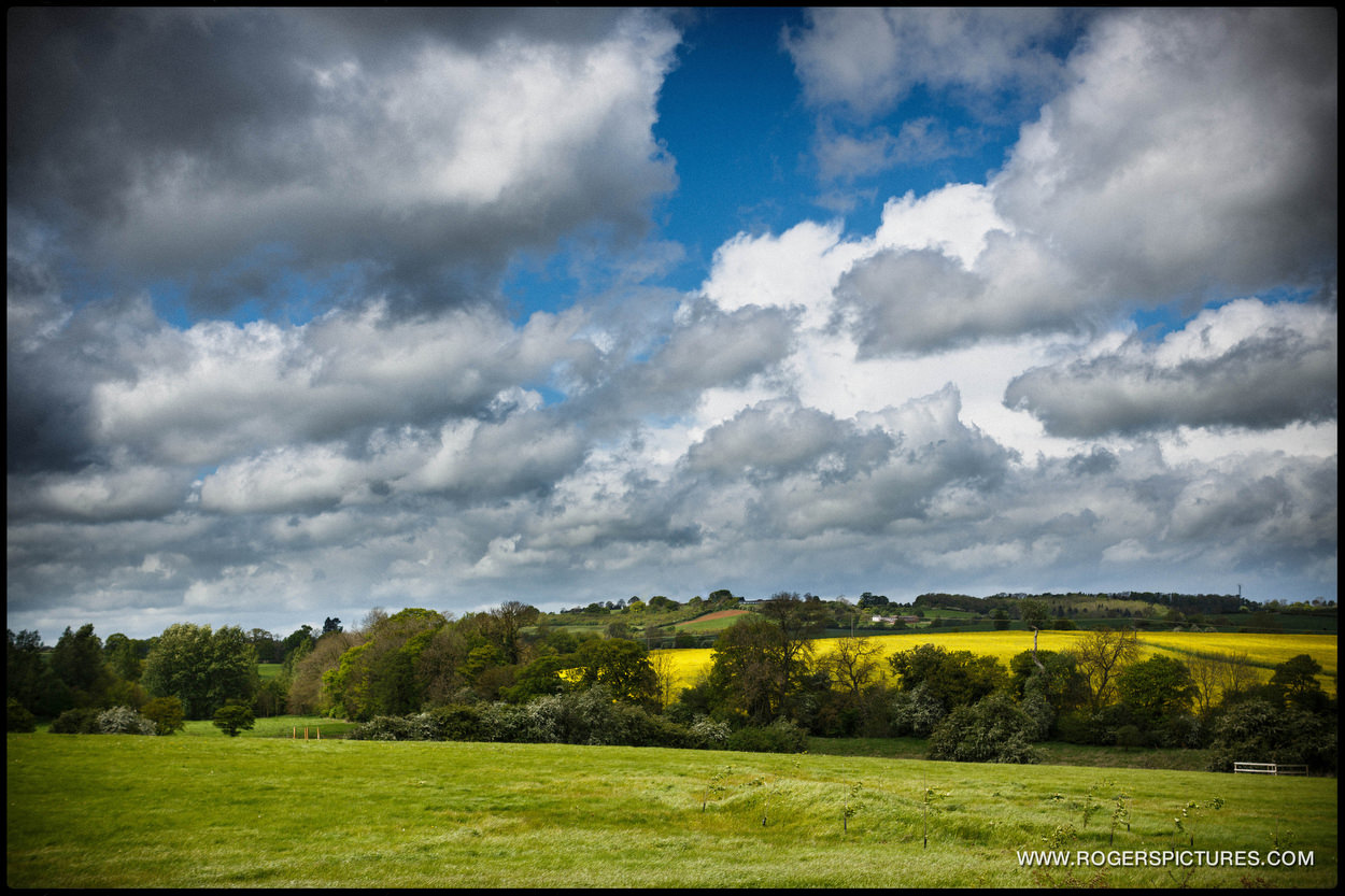 View over Northamptonshire countryside from Dodford Manor