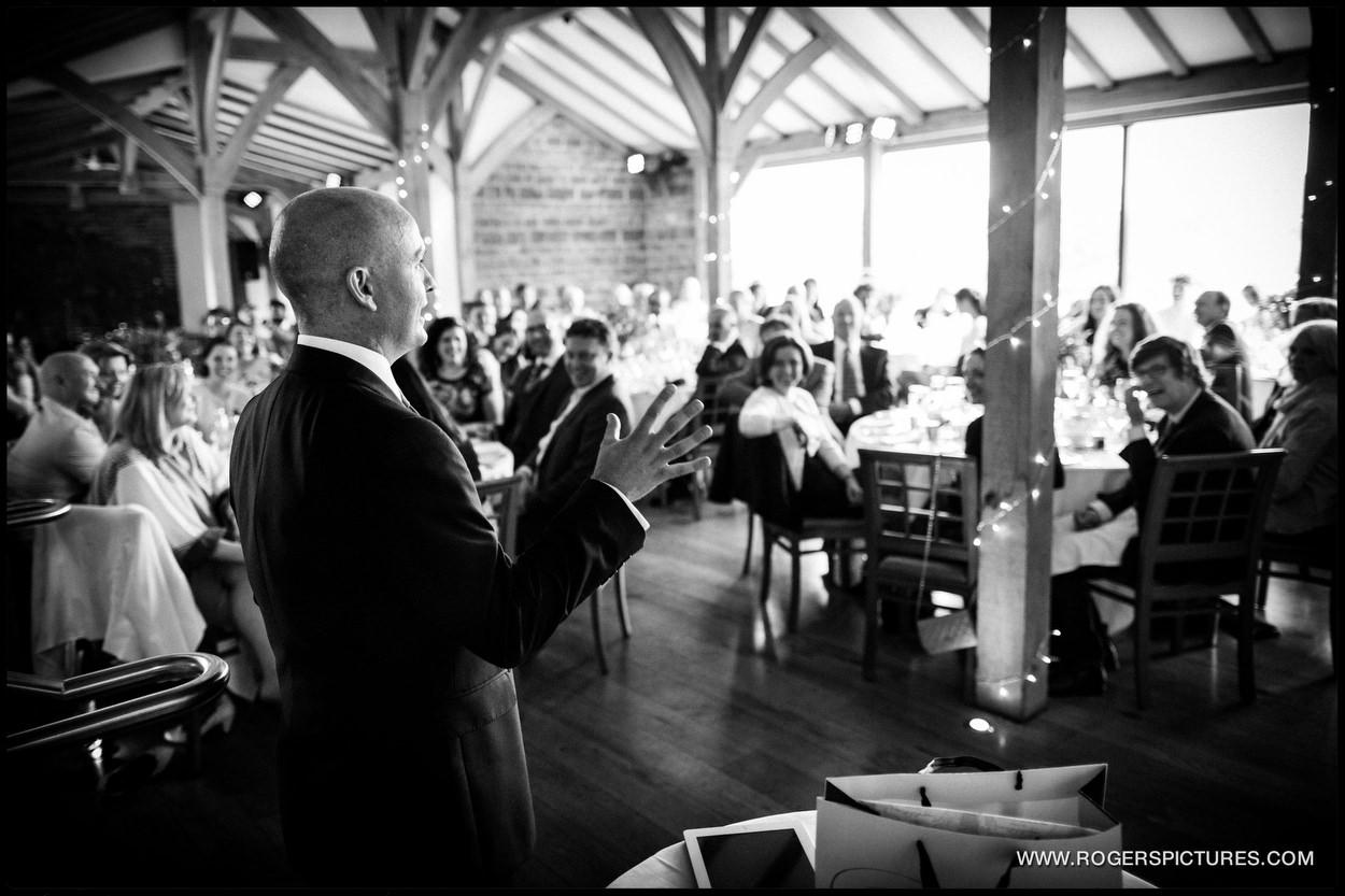 Grooms speech at Dodford Manor wedding reception