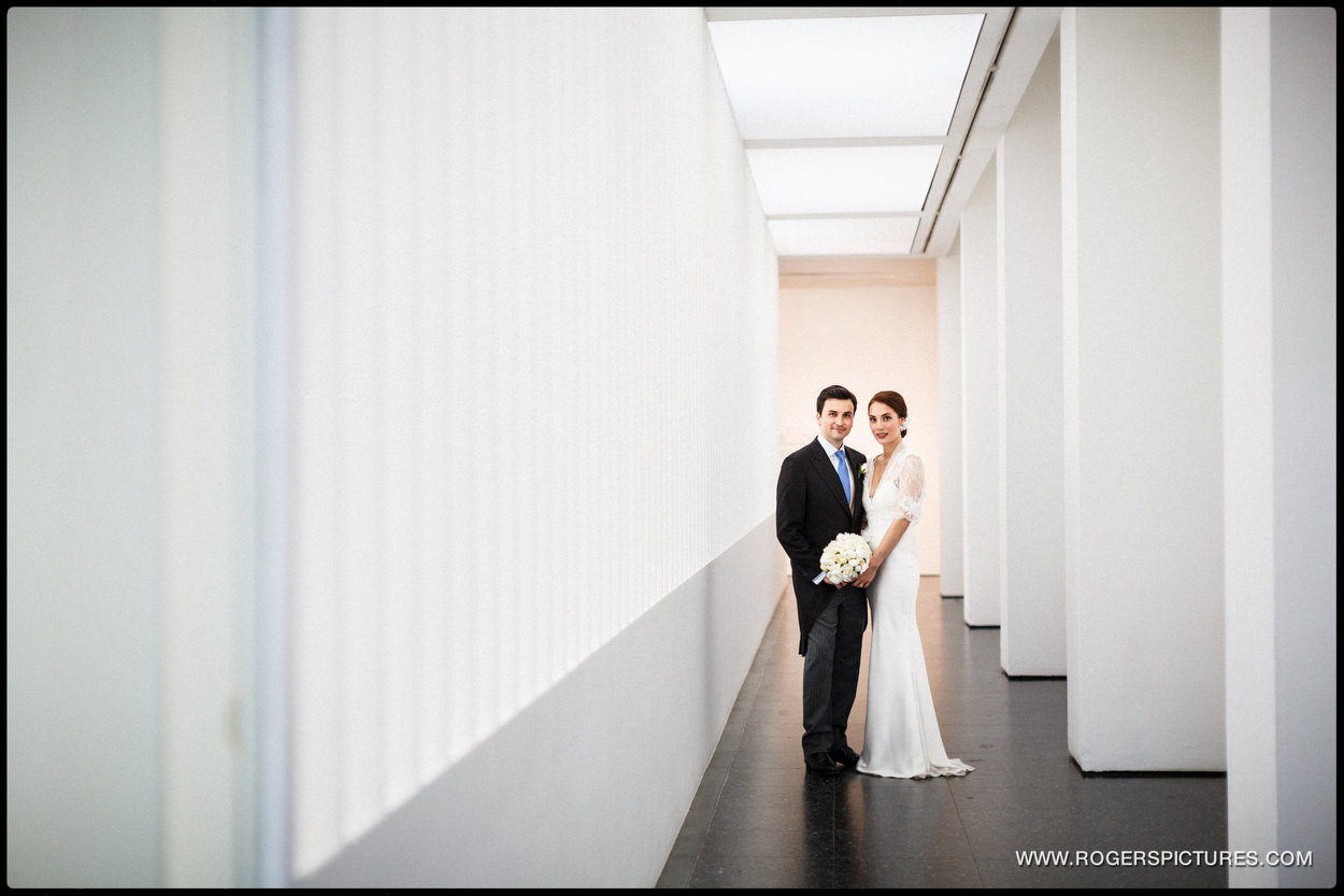 Couple on wedding day at ICA London
