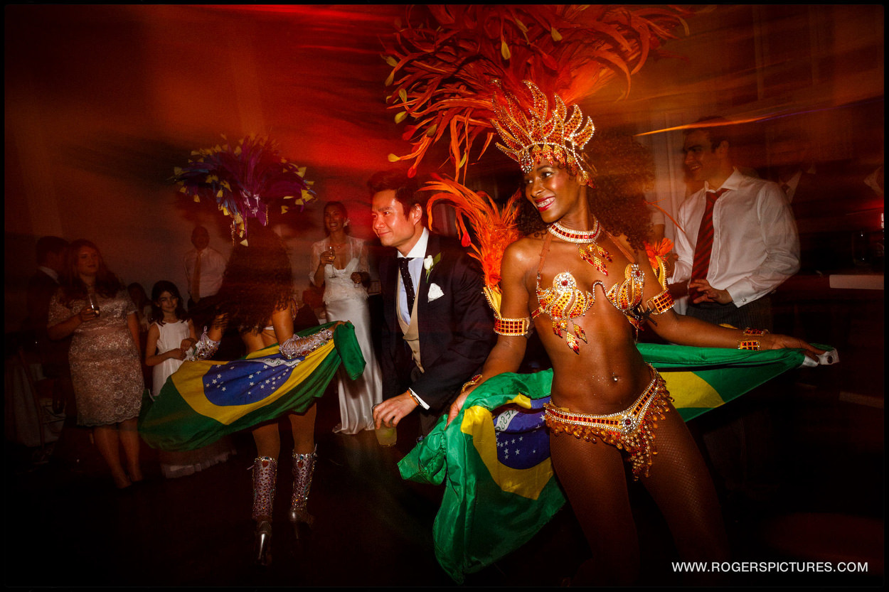 Brazilian dancers at a London wedding