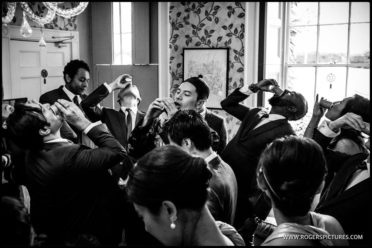 Chinese games at Babington House wedding