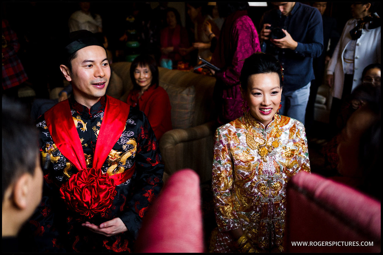 Chinese Tea ceremony at Babington House in Somerset