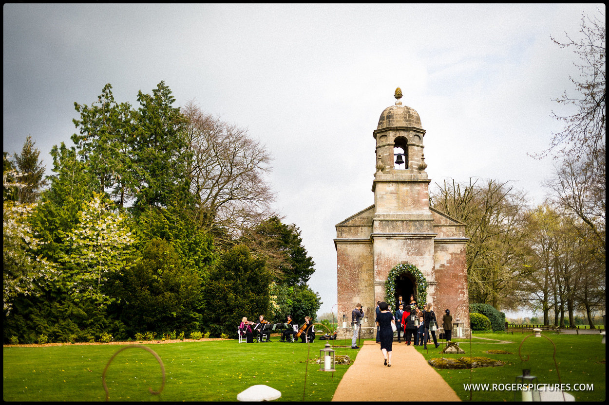 Historic chapel wedding