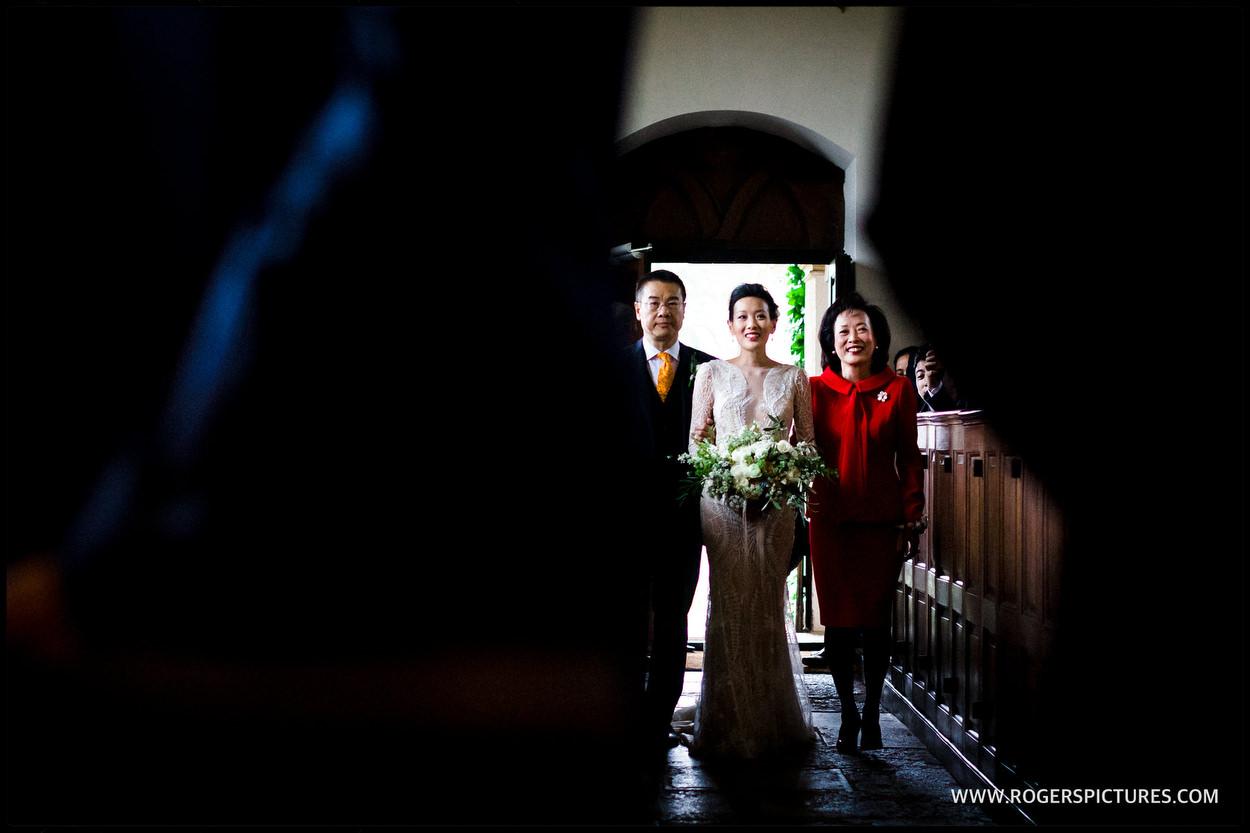 Wedding in the church at Babington house