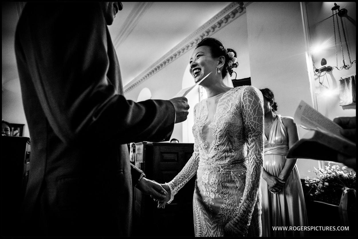 Wedding ceremony in Somerset