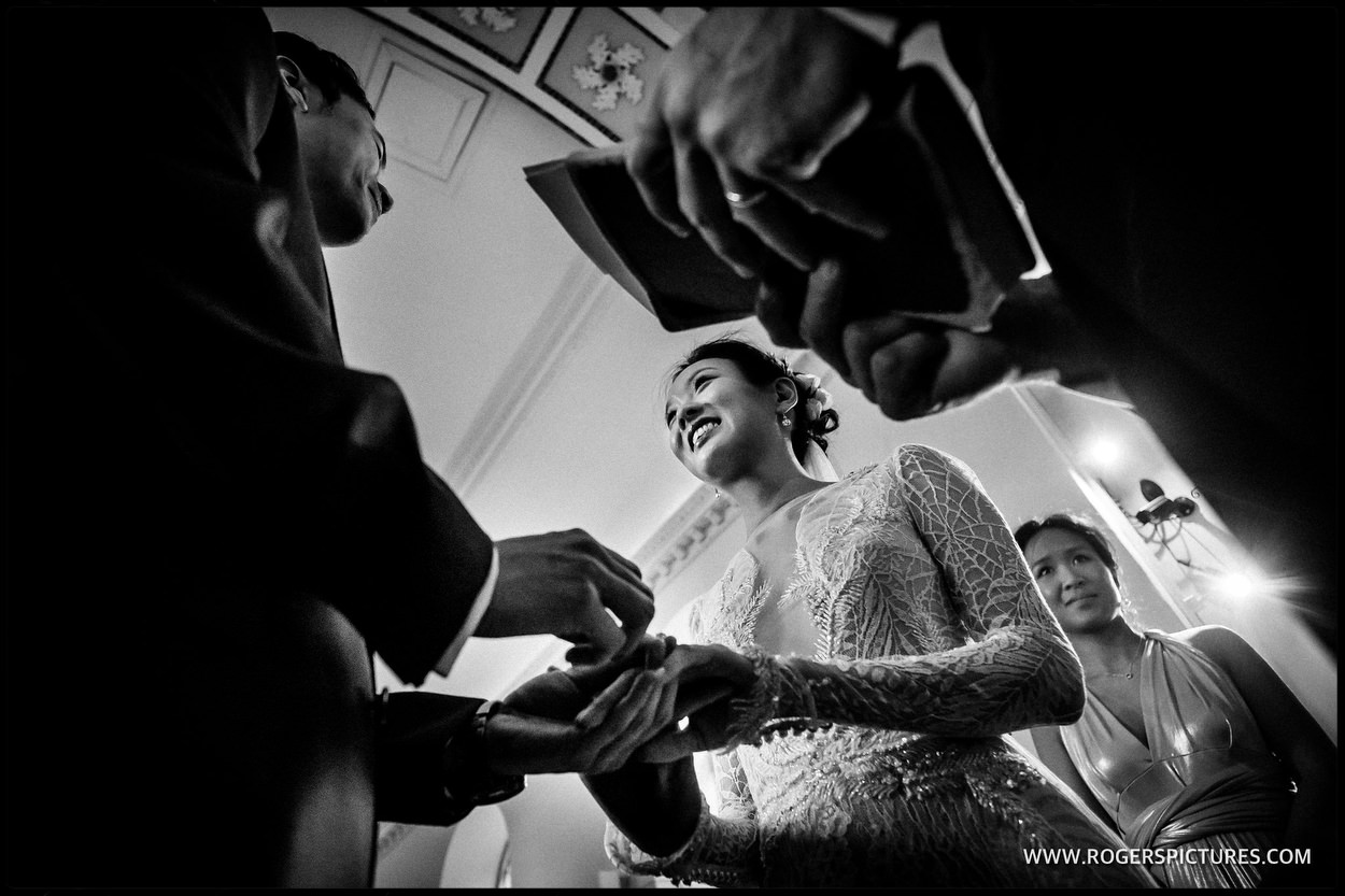 Wedding vows at Babington house
