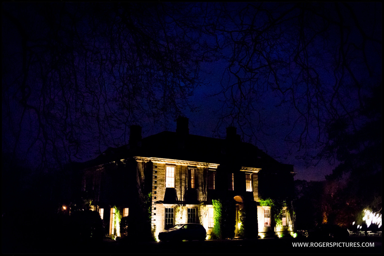 Babington house at dusk