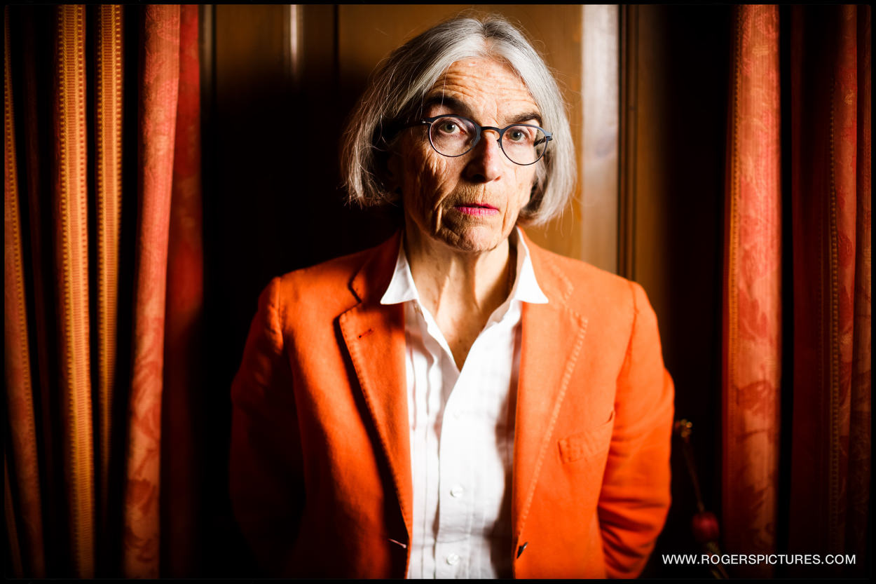 Portrait of Donna Leon, at Durrants Hotel in London.