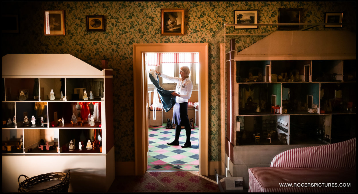 The recreated Victorian nursery at English Heritage's Audley End House in Cambridgeshire. The interactive nursery opens to the public today. Kim Anscombe, historic team leader at Audley End House puts the finishing touches to the nursery.
