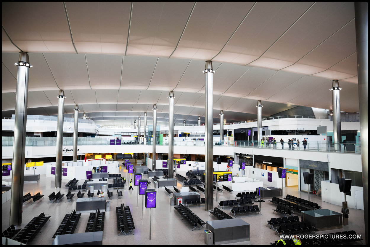 Press preview of the new Terminal 2 at Heathrow airport that will open in June 2014.