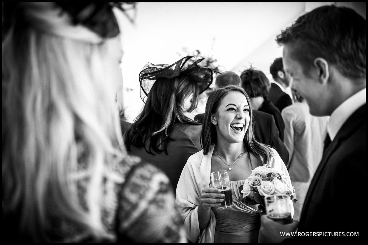 Laughing lady at the wedding