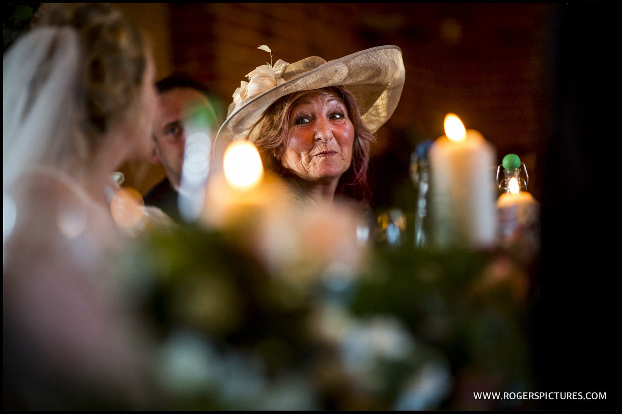 Wedding guest in a hat