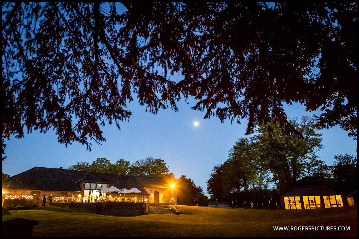 Wasing Park wedding venue in the evening