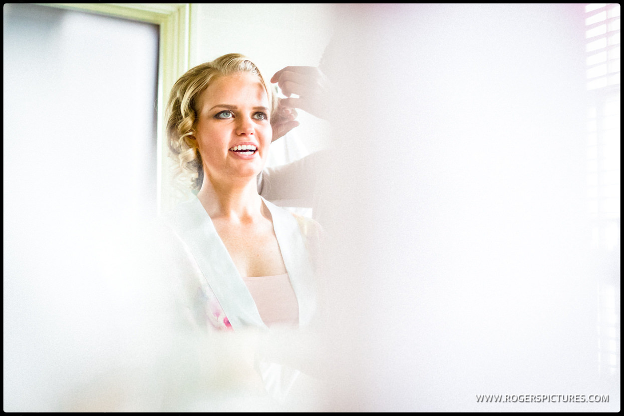 Bride preparations at St Michael's Manor Hotel