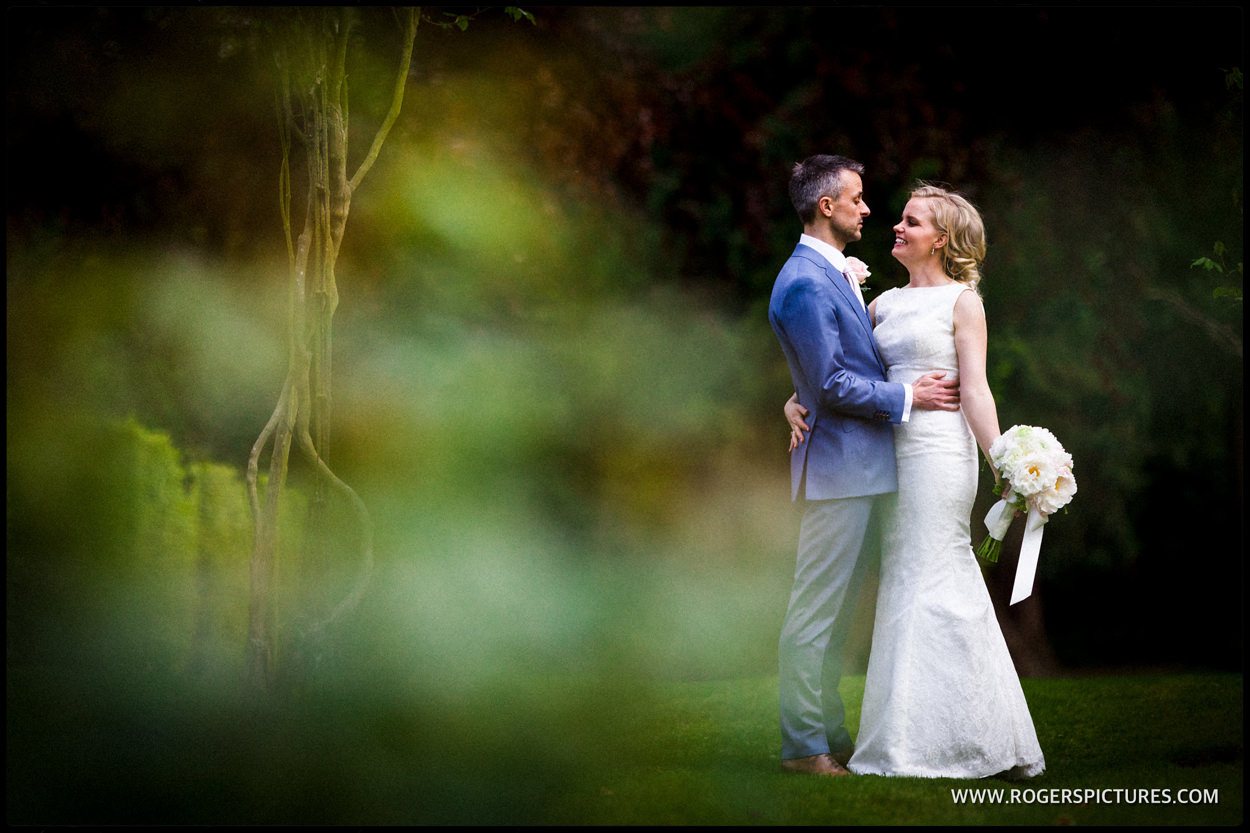 Couple portrait after St Albans hotel wedding