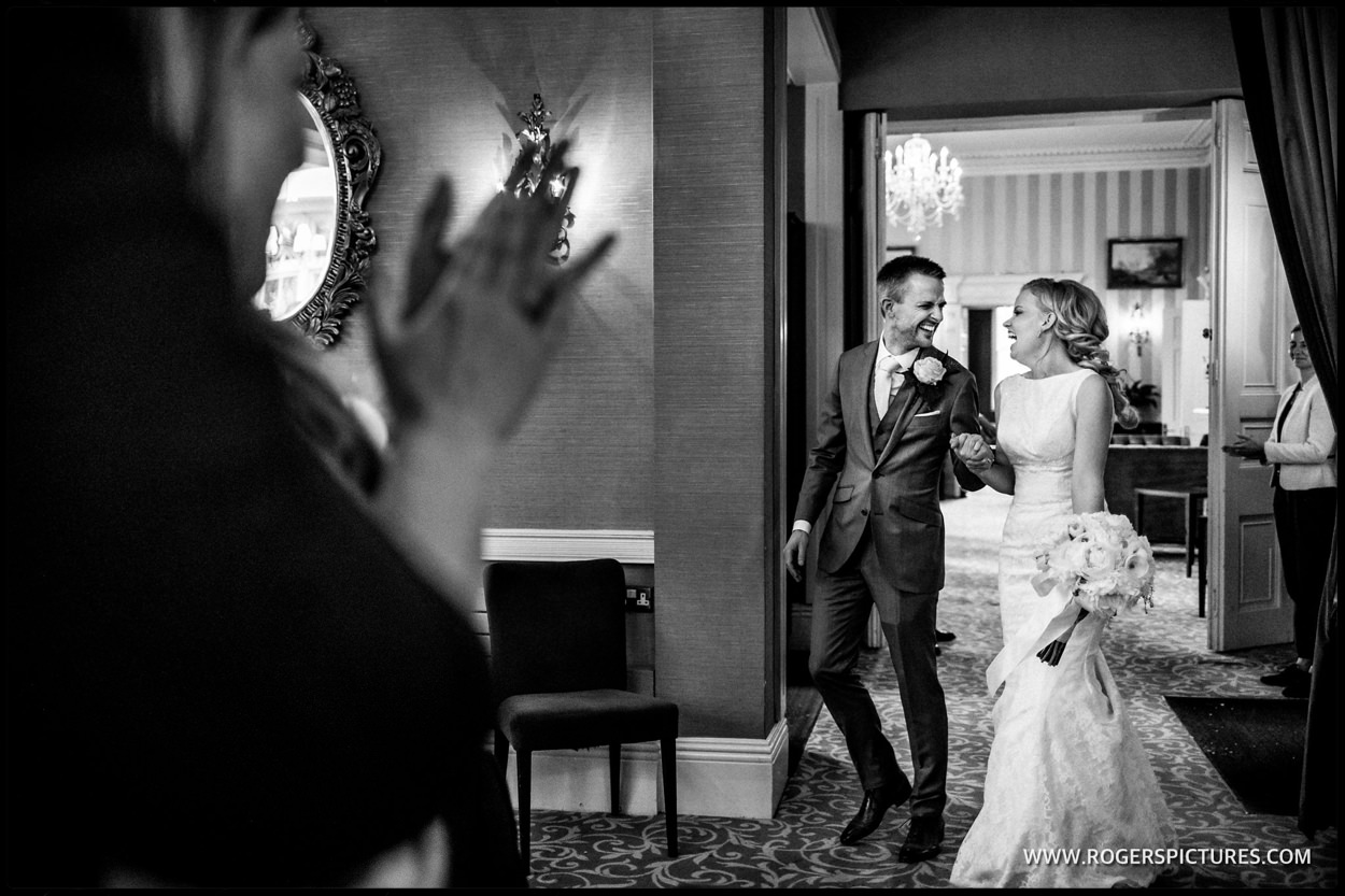 Photo reportage of couple in the wedding breakfast