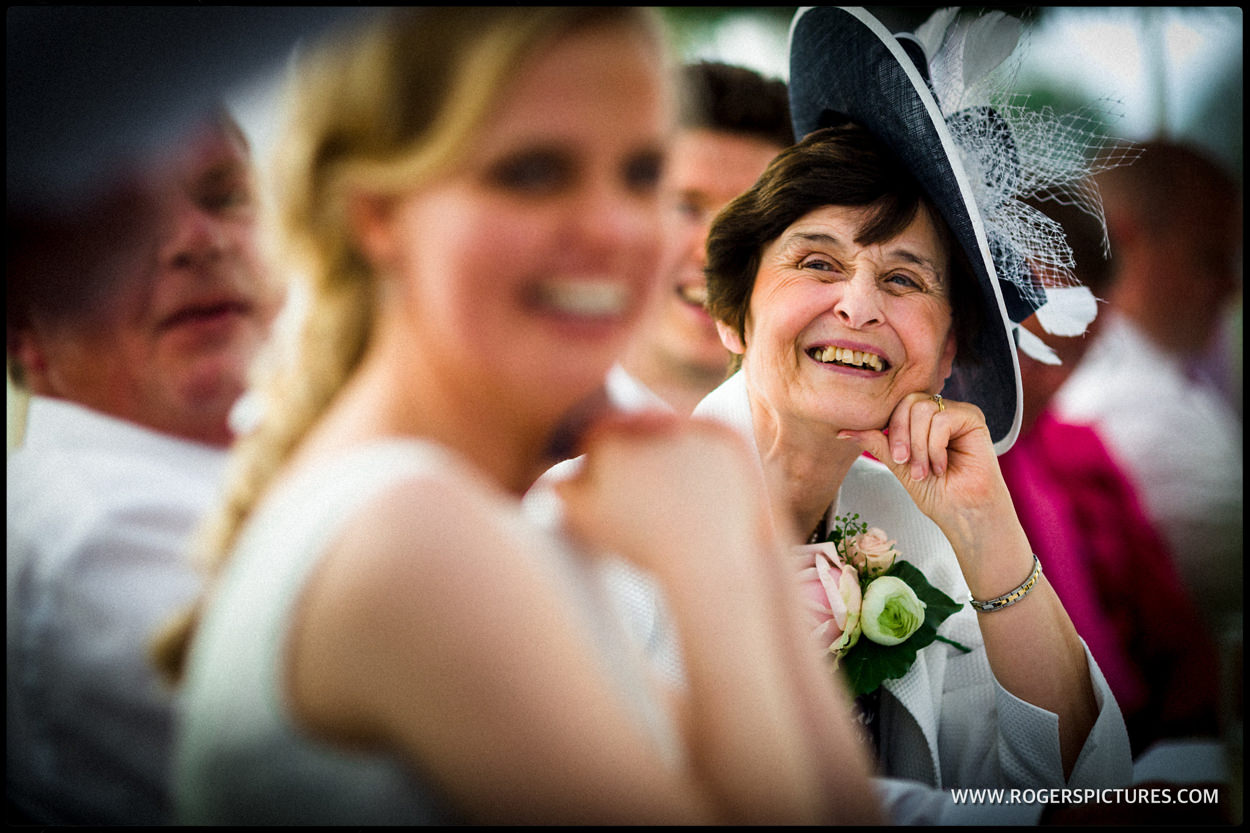 Mother of the groom during wedding speech
