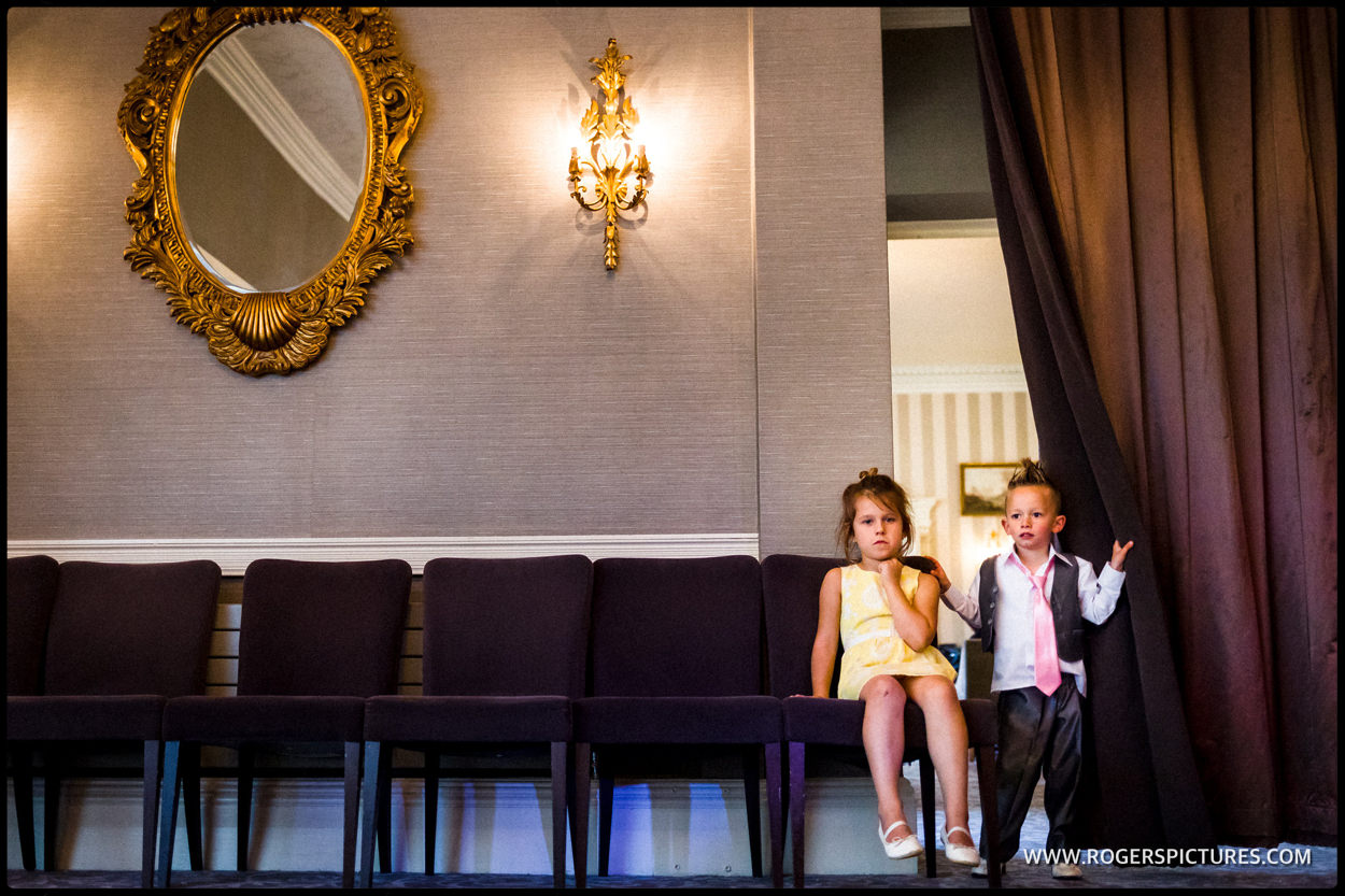 Kids wait for the first dance