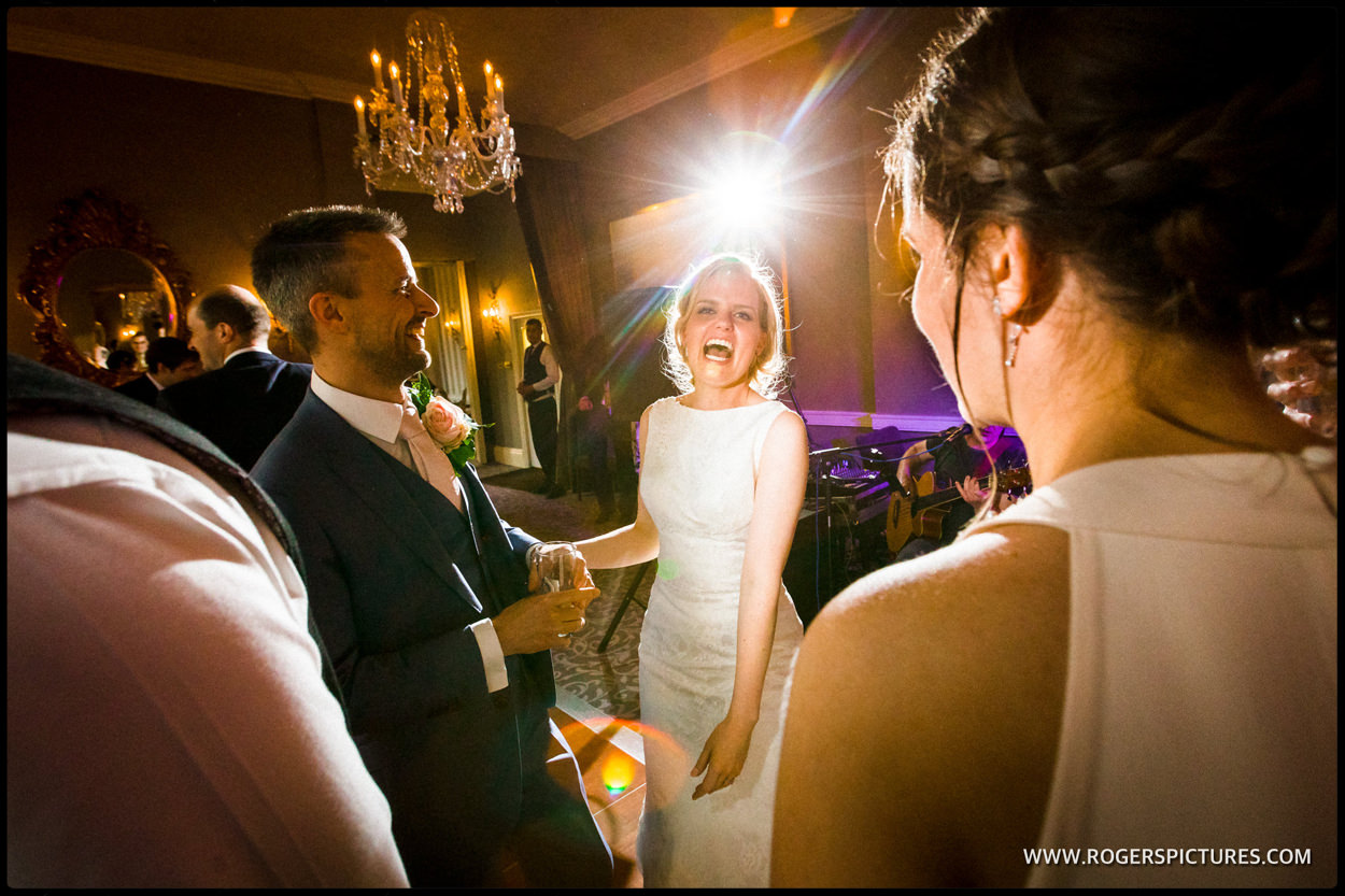 Bride on the dancefloor after the first dance