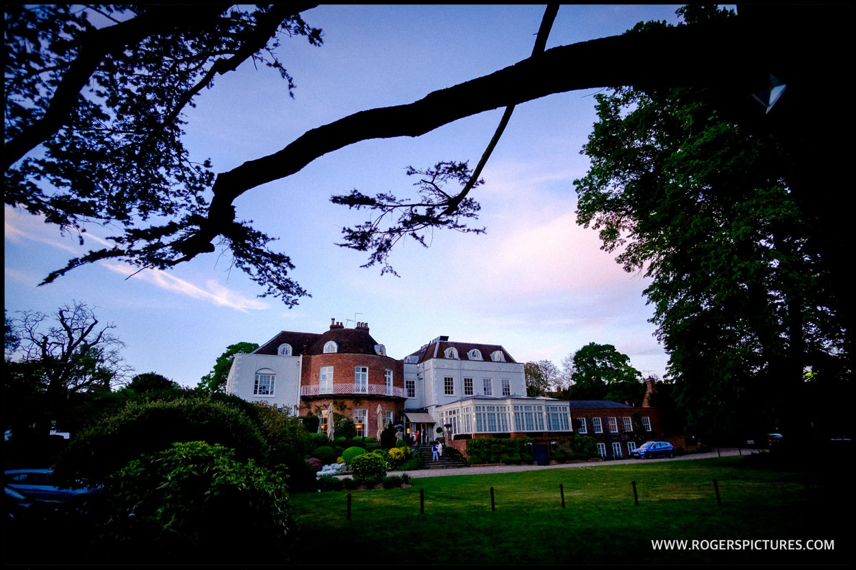 St Michael's Manor hotel wedding venue at dusk