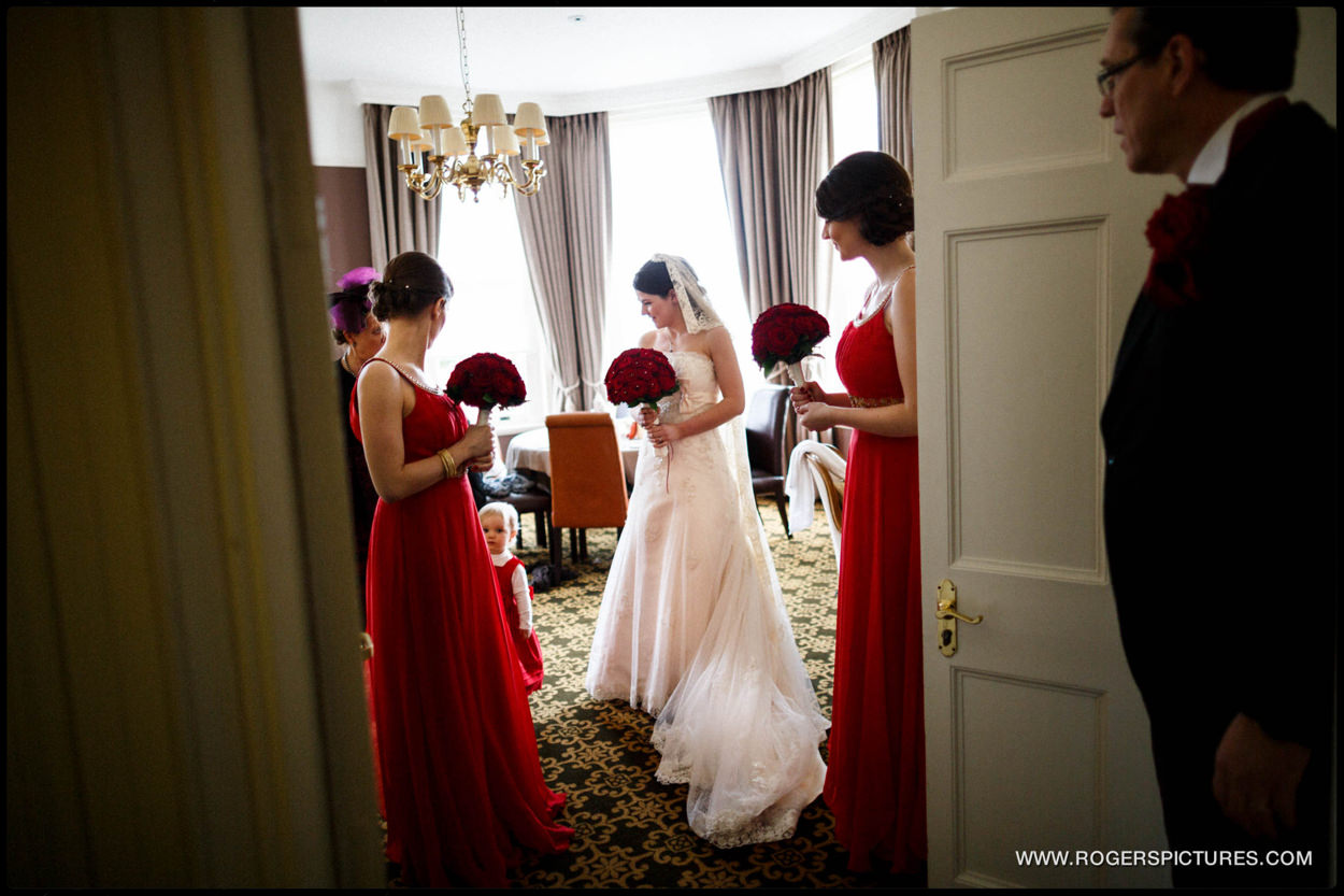 Wedding preparations at Burnham Beeches Hotel