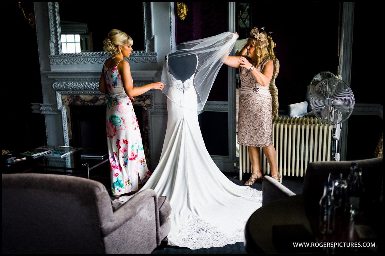Bride with her Martina Liana wedding dress