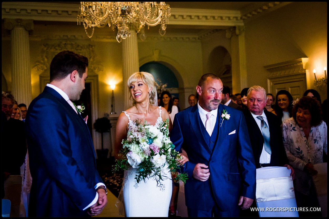 Sussex wedding ceremony at Buxted Park