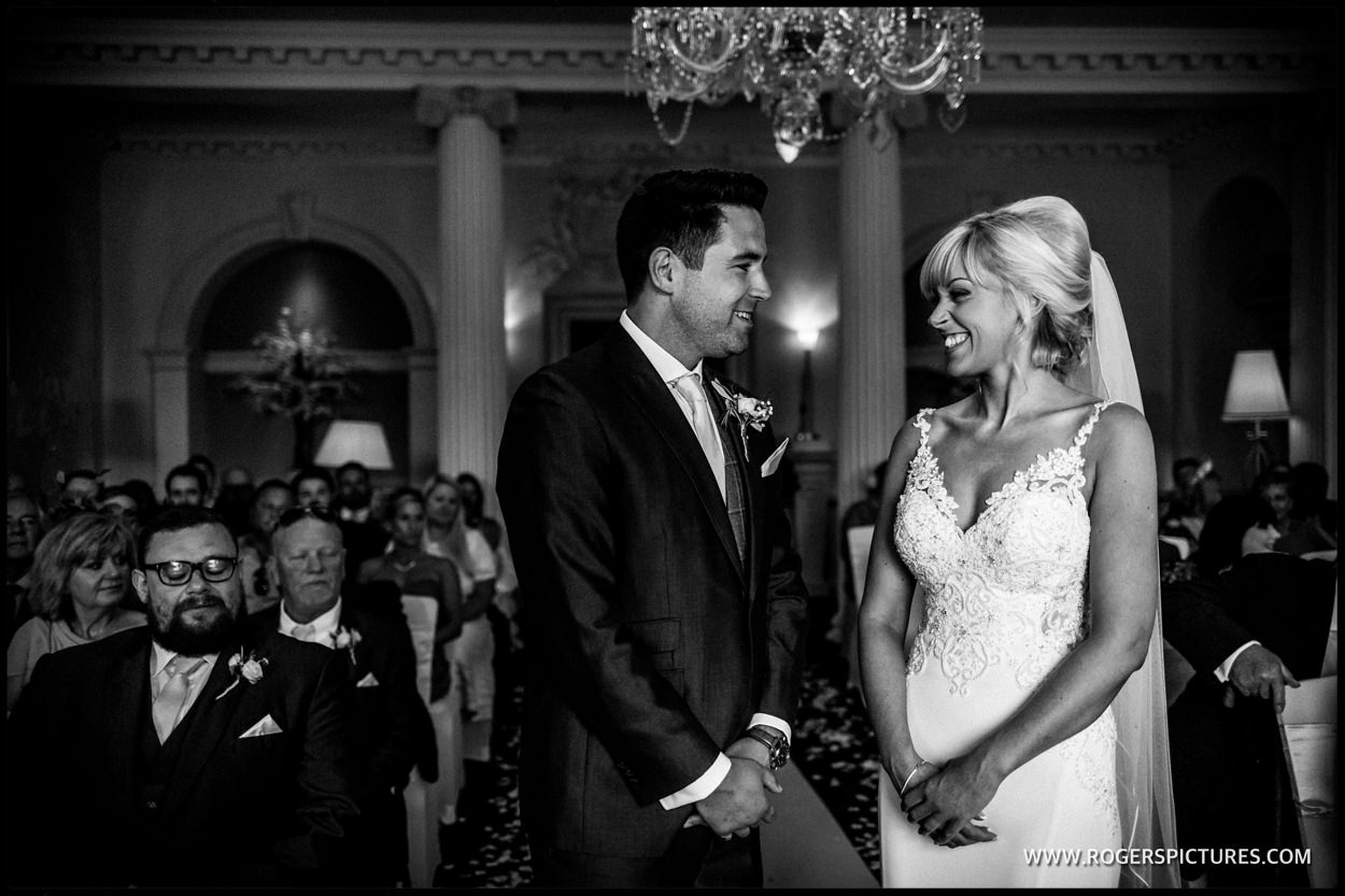 Black and white photo of buxted park wedding