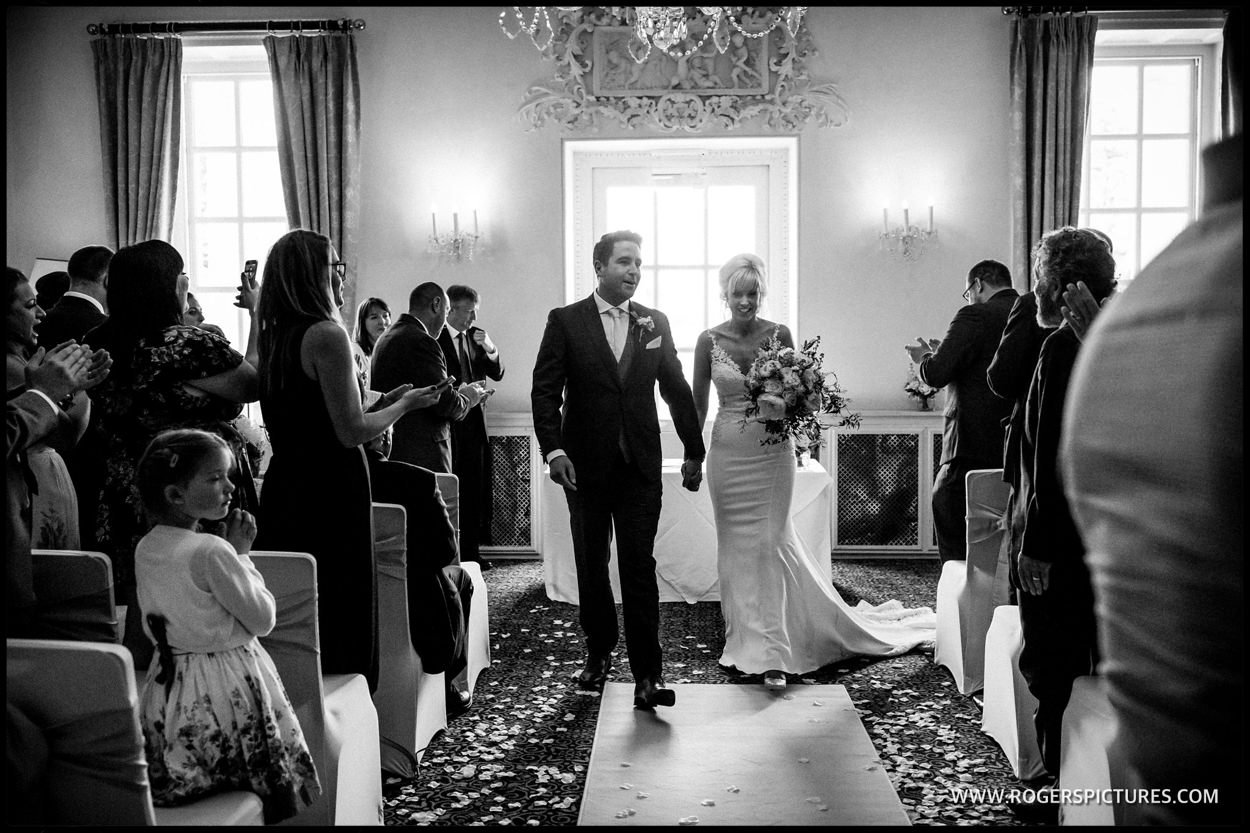Happy married couple at buxted Park