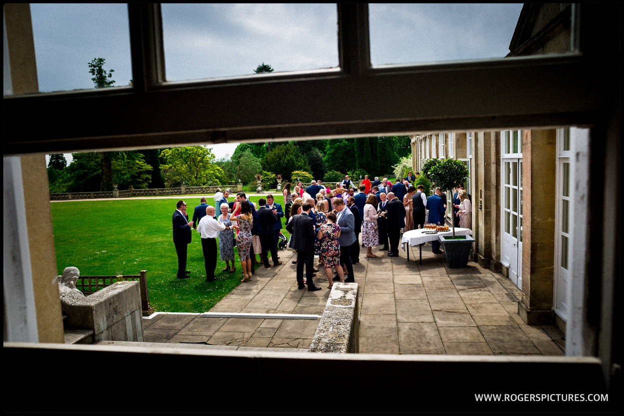 Wedding reception at Buxted Park in the garden