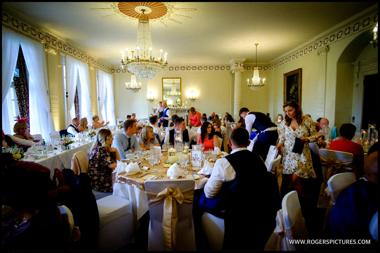 Wedding breakfast at Buxted Park