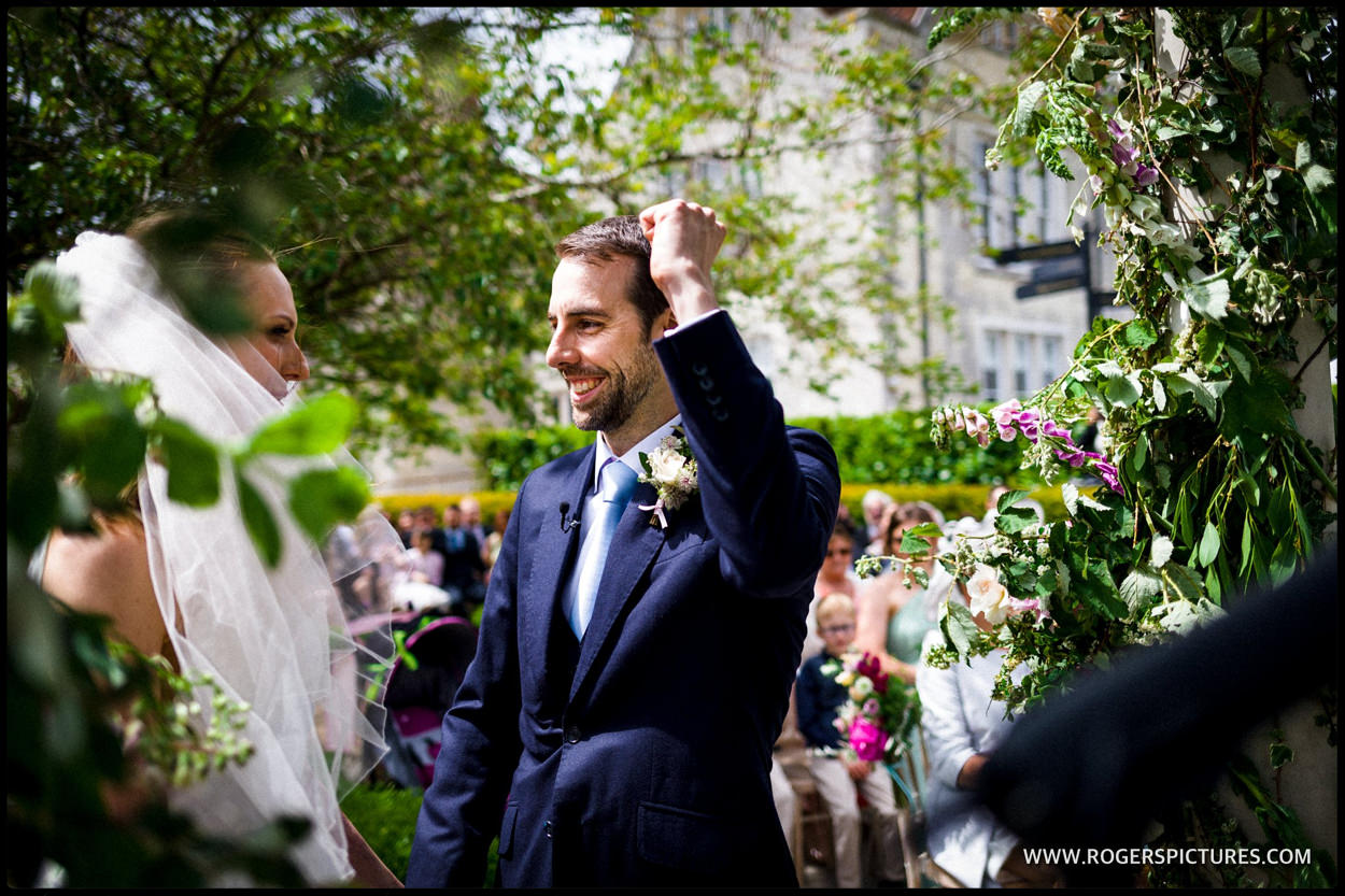 Happy groom after getting married