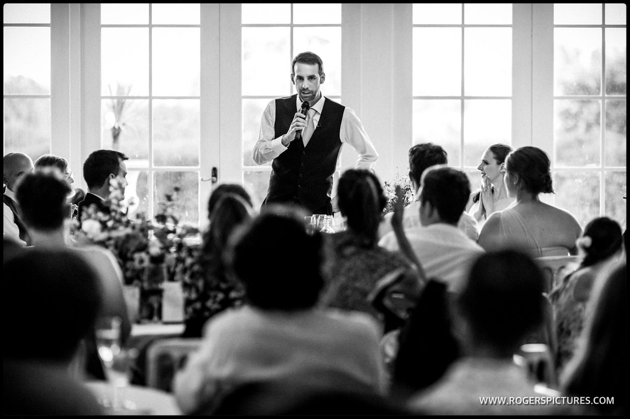 Groom addresses wedding breakfast