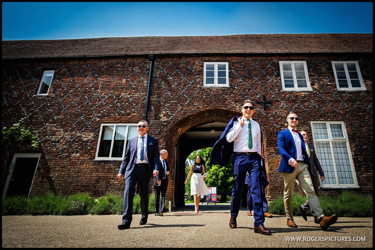 Wedding guests arrive at Fulham Palace