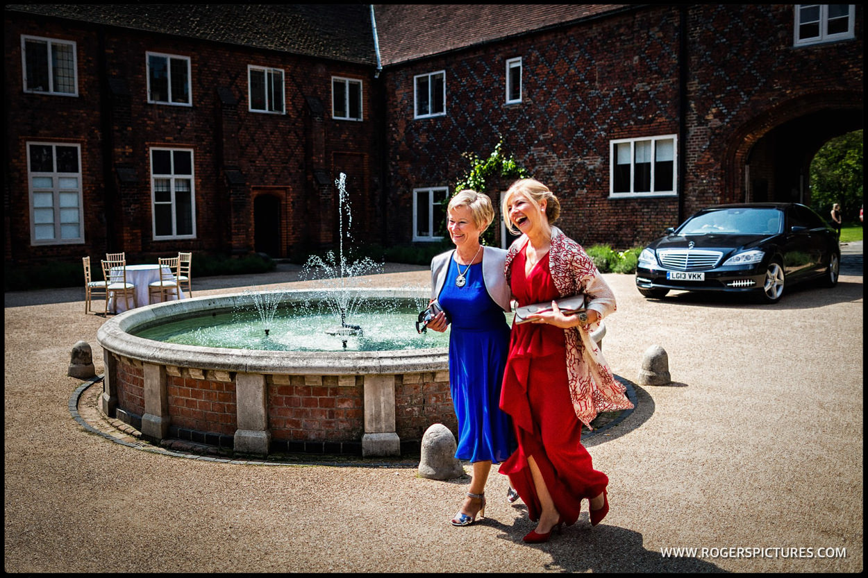 Two mothers of the groom arrive at Fulham Palace for same-sex wedding