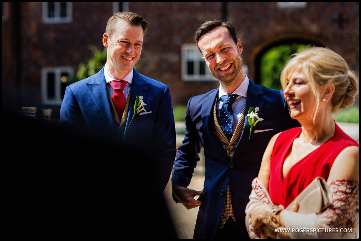 Same-sex grooms arrive at Fulham Palace for their wedding