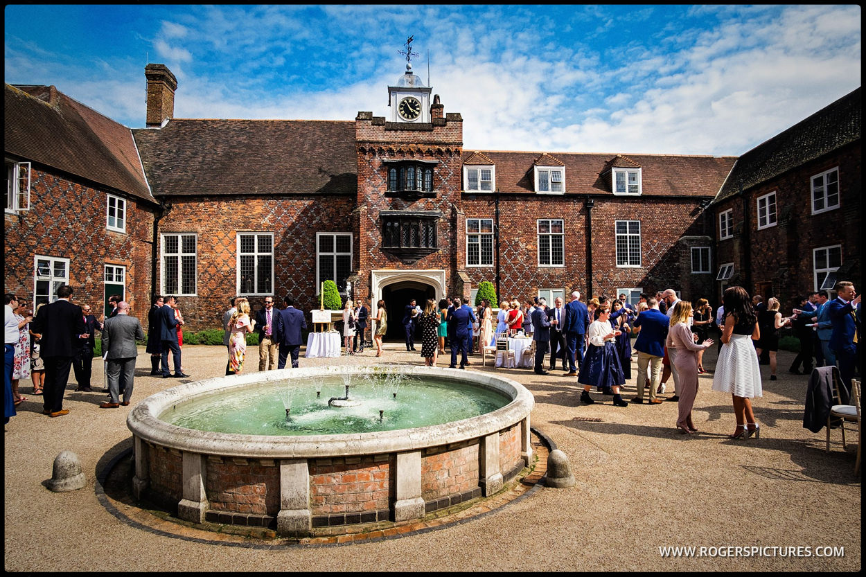 Fulham Palace courtyard during a same-sex wedding