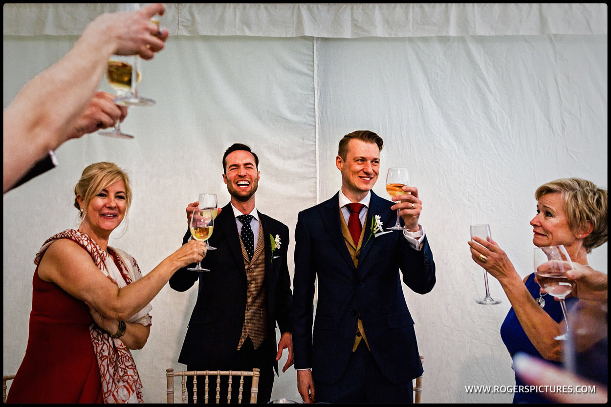 Toast for the newly married couple