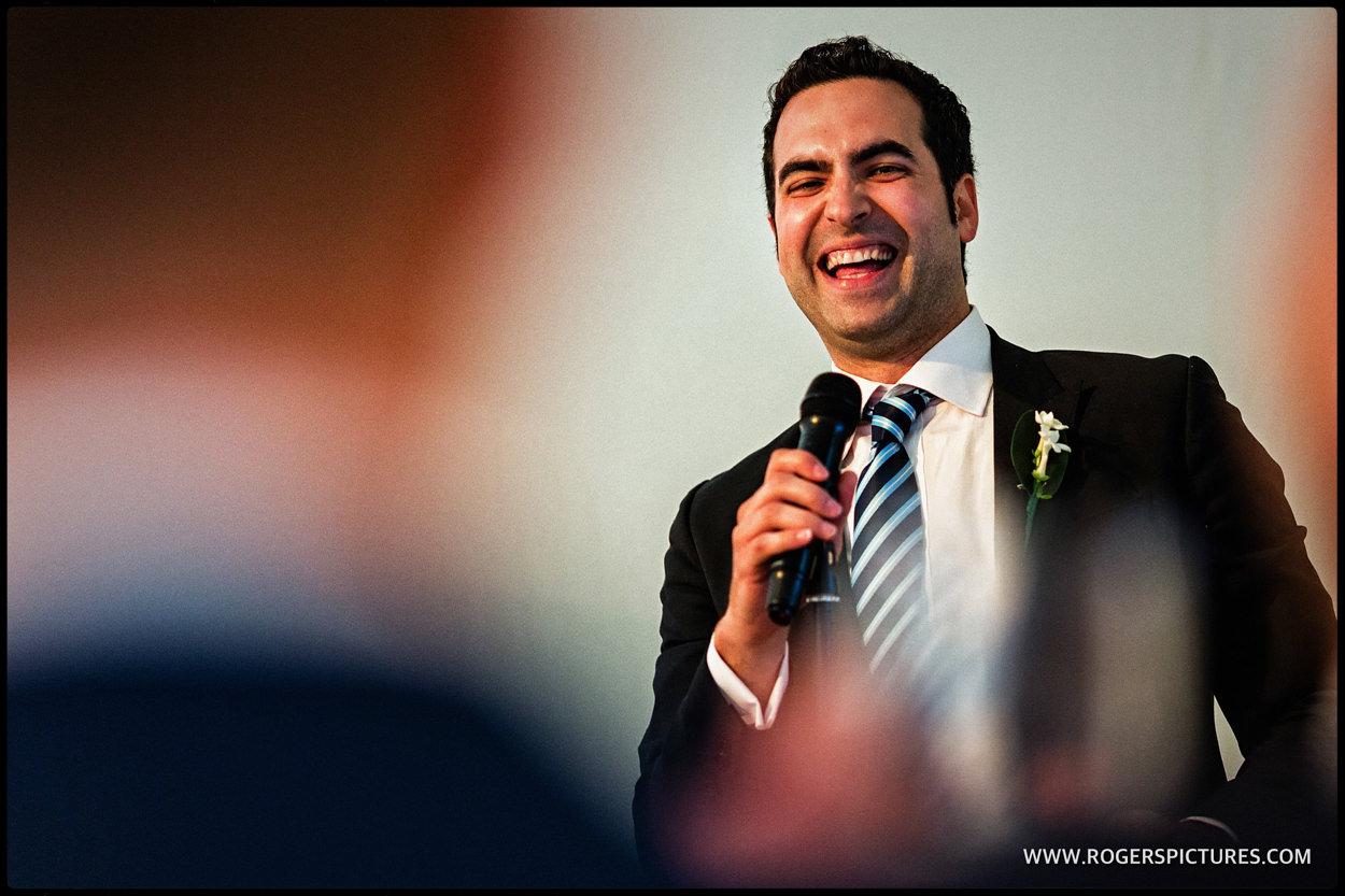 Speeches at a gay wedding