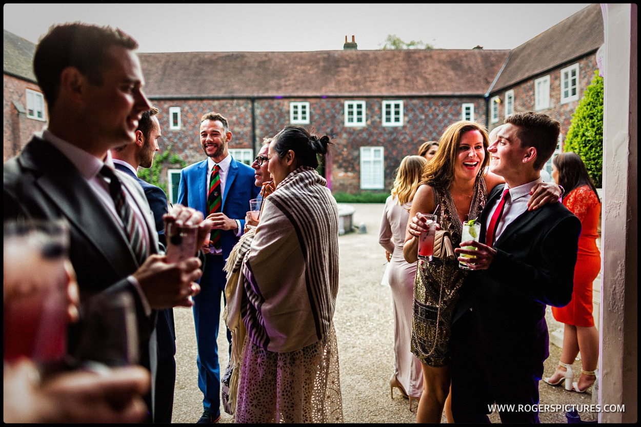 Wedding the section in the courtyard at Fulham Palace