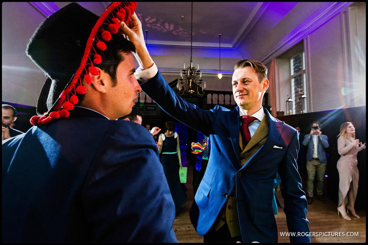 Groom on the dancefloor at Fulham Palace wedding