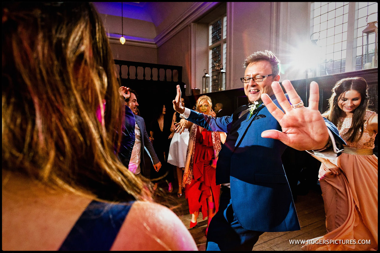 London wedding party at Fulham Palace