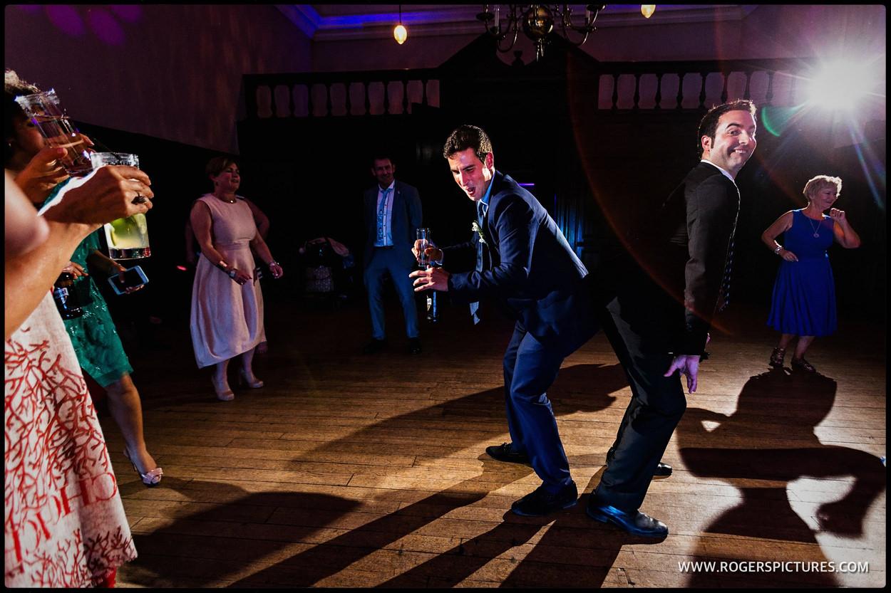 Man dancing at same-sex wedding